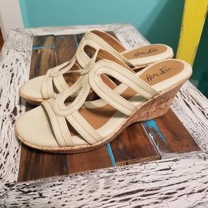 Euro Soft by Sofft Nude Cork Wedge Sandals